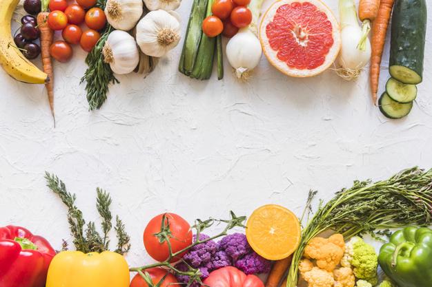 colorida comida saludable no saludable sobre fondo blanco textura 23 2147885658